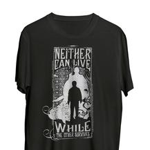 """T-shirt - HARRY POTTER n'3 - """"Neither can live while the other survives..."""""""